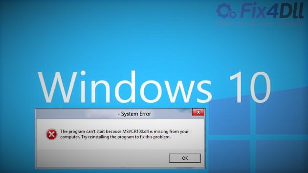windows10-msvcr100.dll-missing